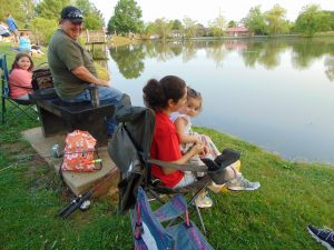 Smith Family Fishing In The Park
